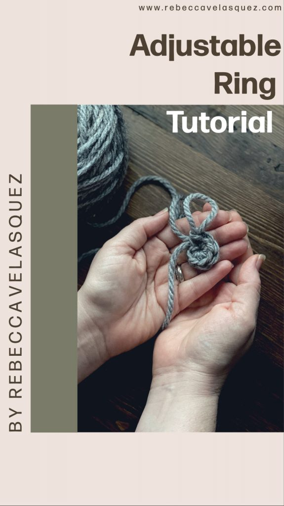Step by step picture tutorial how to make the crochet adjustable ring - magic ring