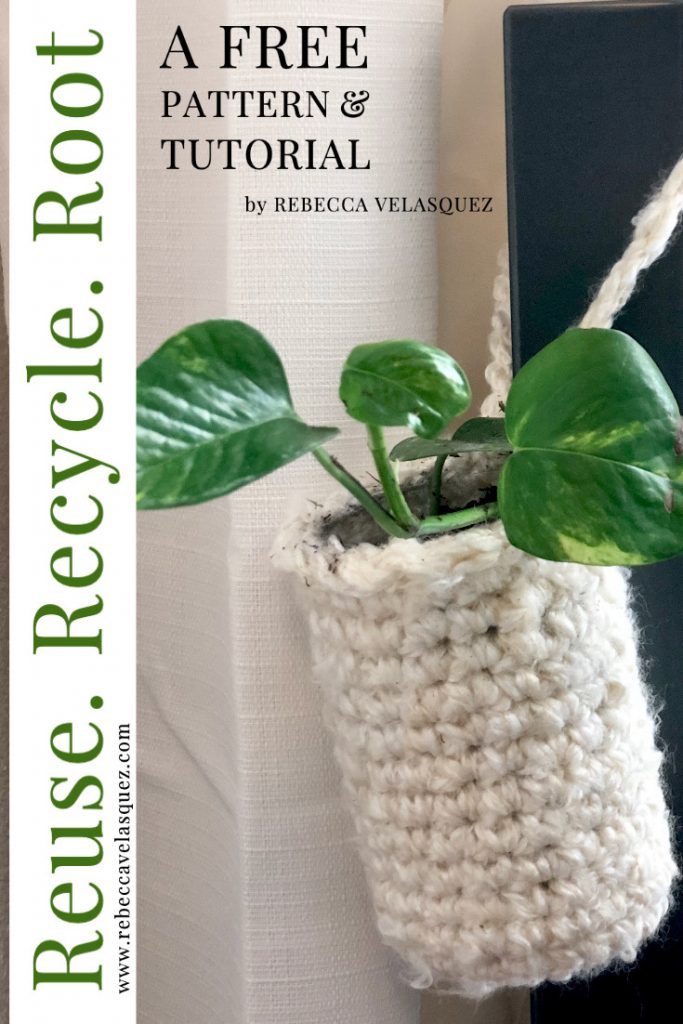 Free Crochet Pattern for plant hanger